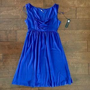 Vibrant Royal Blue Knit Dresss